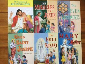 St Joseph Picture Books Golden Treasury of Catholic Faith NEW 12 books