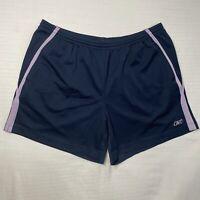 "Reebok Womens M Dark Solid Navy Blue Athletic Shorts 3 1/2"" Inseam Spring Summer"