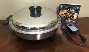 VINTAGE TOWNECRAFT LIQUID CORE MISS ELECTRA TABLE CHEF ELECTRIC SKILLET WORKS