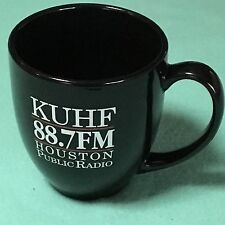 88.7 KUHF HOUSTON Texas NPR National Public Radio Black Coffee Mug Cup UH