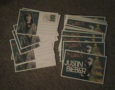 lot of 25) All I Want For Christmas is Justin Bieber - POSTCARD cards - MINT NEW