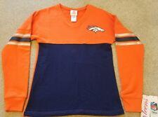 NEW Glitter Denver Broncos NFL Football Sweatshirt Juniors Teens Small S XS 0/1
