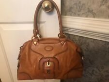 Tod's Brown/Orange Calf Skin Shoulder Bag  Authentic Made In Italy