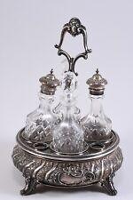 k36x35- 800er Silber Menage mit 4x Glas