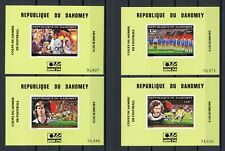BENIN-DAHOMEY Bl.50-53 ** FUSSBALL-WM 1974 - EINZELBLOCKS !!! (129450)
