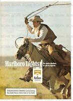 1989 Marlboro Lights Cigarettes Vintage Magazine Ad  Marlboro Man Horse-Roping