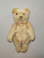 "Old Antique Vtg Ca 1930s Miniature Jointed Bear 6"" Tall Glass Eyes Very Nice"