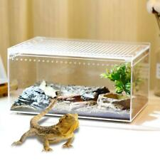 Pet Reptile Breeding Box Spider Frog Acrylic Feeding Case Insect Cage Container