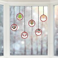 Articlings Christmas Picture Bauble Window Stickers, Winter Holiday Decor Clings