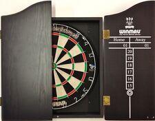 PRO STAR Micro Wire Dart board SET With Winmau Deluxe Black Dart Cabinet 6 Darts