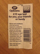 Boots Opticians £10 Eye Test Voucher
