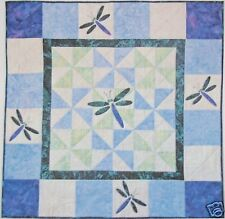 Dragonfly Quilt, Wall Hanging, Quilt Kit with Pattern, DIY Quilting