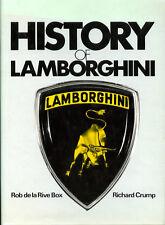 HISTORY OF LAMBORGHINI, RICHARD CRUMP, NEW HARDBOUND CAR BOOK /  Reduced Price