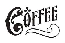 "Coffee Word Art Stencil - Victorian Headline - 6"" X 4"""