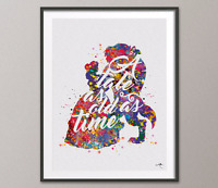 Beauty and the Beast Quote 3 Disney Love Musical Princess Watercolor Art Print