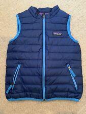 Patagonia Boys Puffer Vest Size 4 EUC Royal Blue