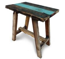 Chunky,stool,coffee table,reclaimed and recycled teak wood.Garden furniture.