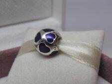 New w/BOX Pandora Love You Violet Purple Enamel Hearts Charm 790543EN13