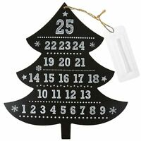 Wooden Christmas Tree Chalkboard Advent Calendar with Chalk Stick Xmas Countdown