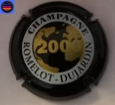 """Capsule de Champagne ROMELOT-DUJARDIN An 2000 """"ESSAI"""" Noir Or et Blanc NR !!!"""
