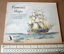 Famous Ships. Puffin Picture Book #39 Bowen & Mason 1/- Series 1940s era