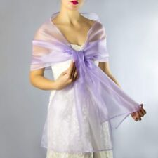 NEW LILAC VIOLET SHIMMER ORGANZA WEDDING WRAP PARTY PROM SHAWL STOLE UK