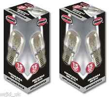 2x Eveready Nevera aparato Bombilla de lámpara 15w 240v ses base (e14) - Libre De Envío