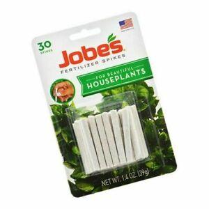 Jobe's Fertilizer Spikes - Slow-Release Plant Food - For Houseplants - 30 Spikes