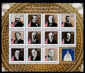 ANTIGUA US Presidents XXIII-XXXIII MNH sheetlet