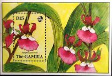 GAMBIA 1989 Block 86 Orchideen Orchids Blumen Flowers Flora Pflanzen Plants MNH
