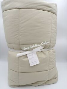 Pottery Barn Sport Luxe Comforter Chic Silky Smooth King Cal King Bone #9787T