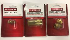 Craftsman Air Tool Compressors Accessories Adapter Quick-Connect Drain Cock NEW
