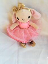 Doudou peluche lapin robe rose paillettes noeud or doré H&M danseuse  NEUF