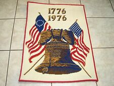 Vintage Freedom Floor Rug Liberty Bell Bicentennial 1716 -1976 Carpet Co.