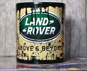 Retro Vintage Land Rover Oil Can Mug Car Mechanic Tea Coffee Mug
