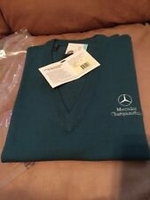 Bobby Jones Mercedes Championships Logo V Neck Merino Wool Golf Vest L NWT