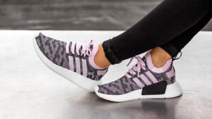 Adidas Women NMD R2 PK W Wonder Pink CAMO Glitch Primeknit Boost Black White 7.5