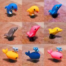 SALE - 9pcs / 6 Dolphin 3 Whale 3D PVC Shoe Charms Similar to Jibbitz fits Crocs