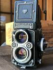 Rolleiflex 3.5F TLR PLANAR camera model 1 FILM TESTED working great with case