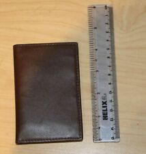 Royce Brown Leather Wallet/Credit Card Case Unisex