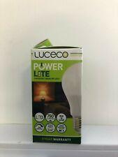 Luceco E27 LED ~ Power Lite Emergency Back-Up Bulb ~ 8w ~ 750LM ~ 2hr Back-up