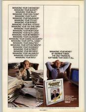 Andrew Tobias Money Managing Software - Meca 1985 2 Page Print Ad