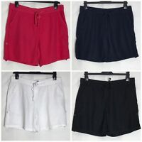 Next Linen Blend Pocket Roll Up Tab Shorts 4 Colours Size 6 - 18 (n-48h)