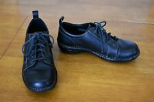 Women's Black Leather Born Oxford Shoes - Size 10