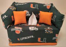 NCAA University of Miami Hurricanes  Tissue Box Cover Handmade