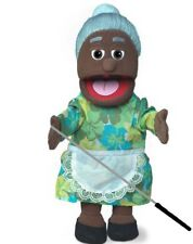 Silly Puppets Granny (African American) Puppet Bundle 14 inch with Arm Rod