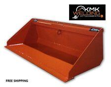 New 60 Low Profile Dirt Bucket For Skid Steerkubota Orangequick Attach