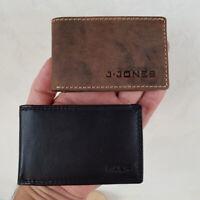 Mini Geldbörse aus Leder - schmales bequemes Format - klein - schwarz braun RFID