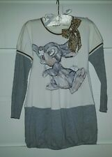 Monnalisa Bambi Thumper Girls Dress With A Bow Size 7y 122cm Next Day Post
