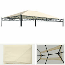 Ersatzbezug für Pergola Cadiz 4x3m, Dach Sonnenschutz, creme
